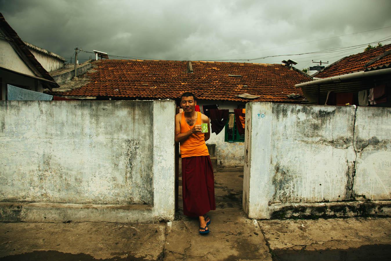Portrait of Tibetan Monk in Bylakuppe