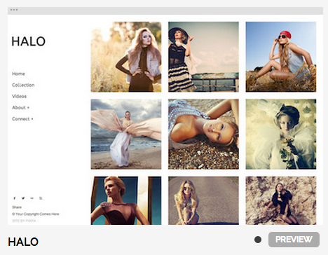 From Pixpa's newly launched theme collection: Halo