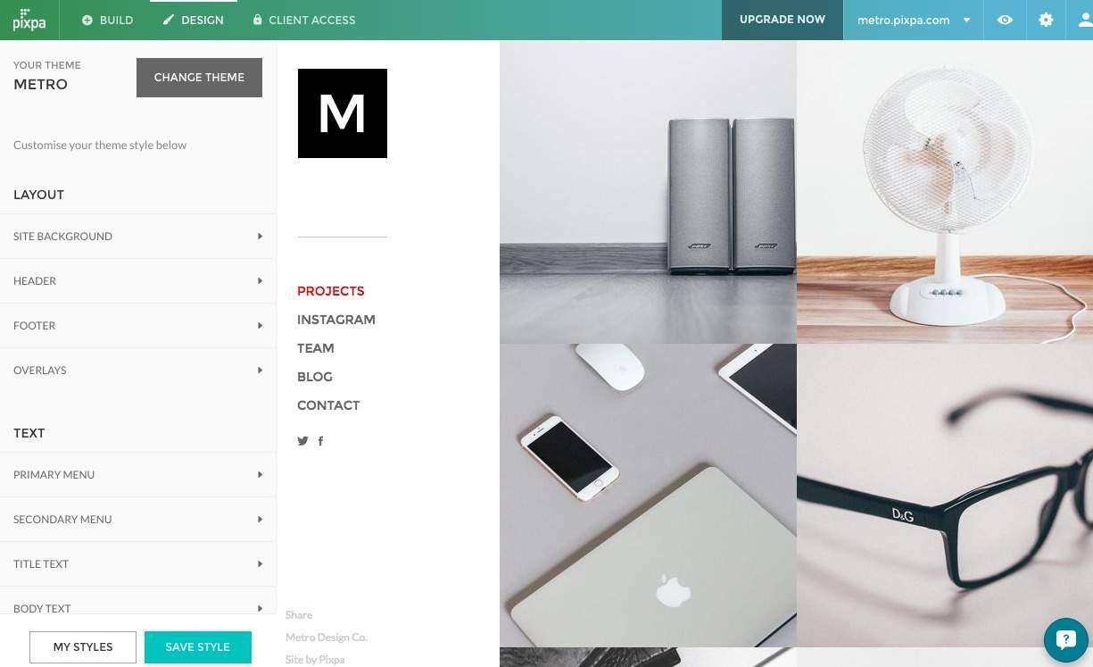 Portfolio Website Theme Screenshot
